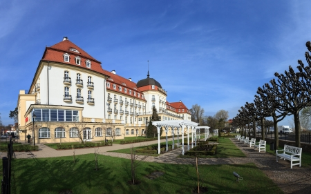 Grand Hotel - historic building in Sopot, Poland. Photo taken on: April 26th, 2012 Stock Photo - 13669150