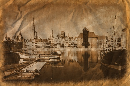 The riverside with the characteristic Crane of Gdansk, Poland Stock Photo - 13671149
