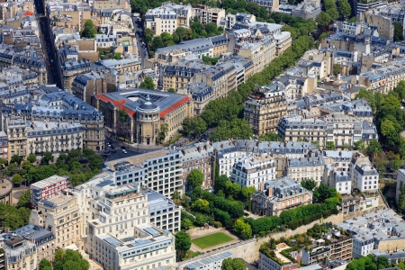 Aerial view of Paris architecture from the Eiffel tower Stock Photo - 13671173
