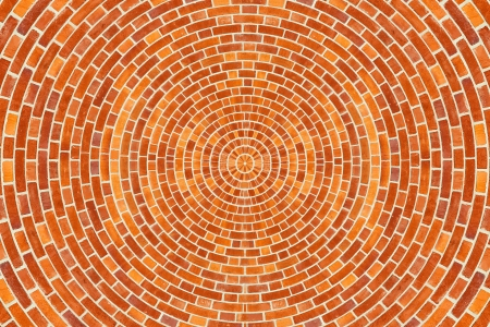 A circular brick pattern background texture  Stok Fotoğraf