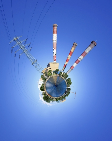 Power station the planet - a vision of humorous  photo