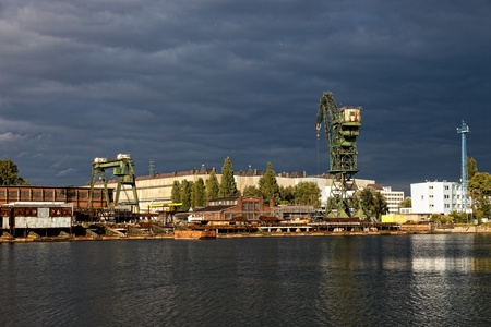 Dark clouds over the shipbuilding industry  photo