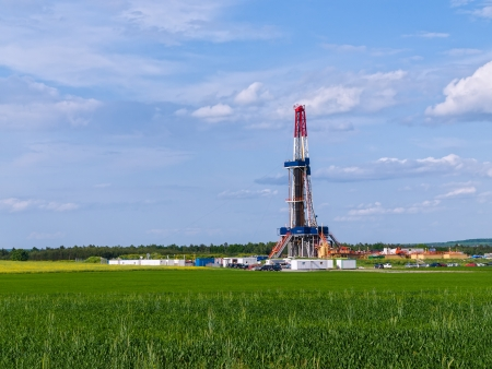 Shale gas drilling in the province of Lublin, Poland  photo
