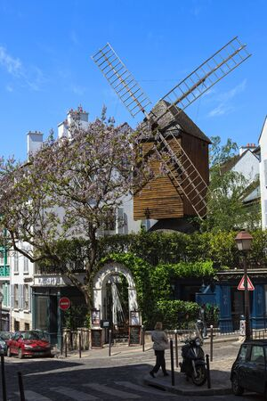 The Moulin de la Galette is a windmill situated near the top of the district of Montmartre in Paris. Photo taken on: May 19th, 2010