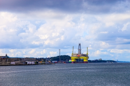 Oil rig in the Norwegian port of Sandnes. photo
