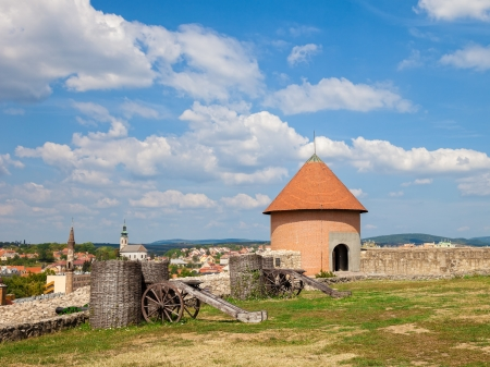 Walls of the fortress of Eger, Hungary  photo