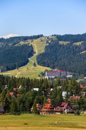 Gubalowka view of the ski lift in the background near Zakopane, Poland Stock Photo - 15408225