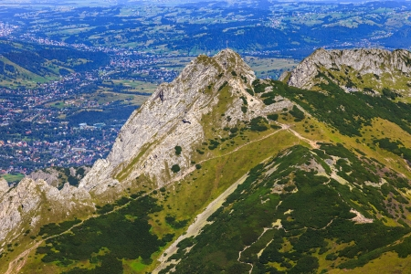 Giewont - Famous mountain in Polish Tatras with a cross on top Stock Photo - 15688021
