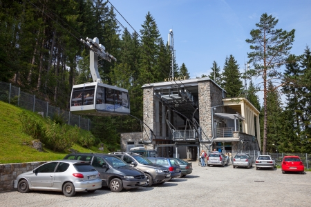 cableway: Cable railway station in Kuznice, Poland.