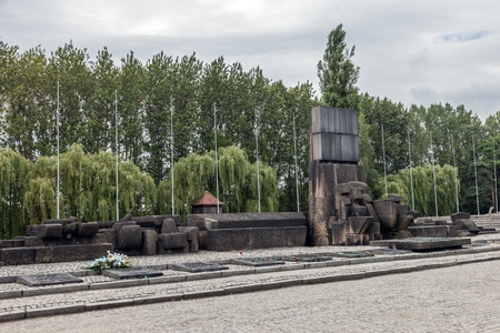 extermination: Auschwitz II-Birkenau, a former Nazi extermination camp in Poland. This photo show International Monument to the Victims of Camp. Photo taken on: August 15th, 2012