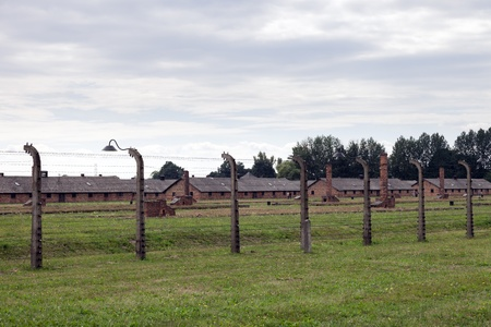 extermination: Block of houses in Auschwitz II-Birkenau, a former Nazi extermination camp in Poland.  Photo taken on: August 15th, 2012