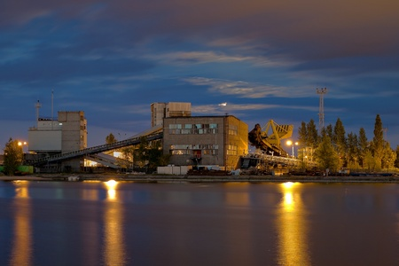 conveyors: Industrial view - conveyors to transport coal
