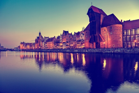 characteristic: The riverside with the characteristic crane of Gdansk, Poland