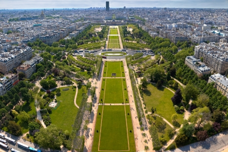 champs: Champs de Mars - view from Eifell tower  Stock Photo