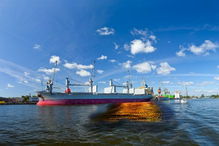 Oil spill from the ship - Image is an artistic digital rendering