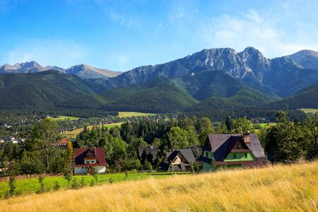 zakopane: View of Giewont mountain from Gubalowka - Zakopane, Poland