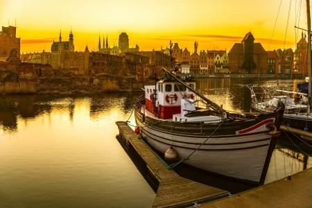 Gdansk - the historic Polish city at sunset Stock Photo - 18452781