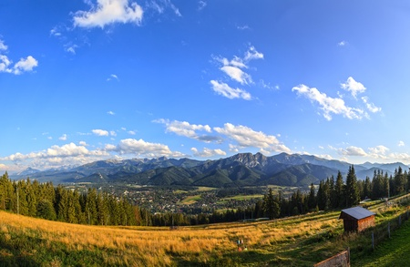 A view of The Tatra Mountains and Zakopane, Poland  photo