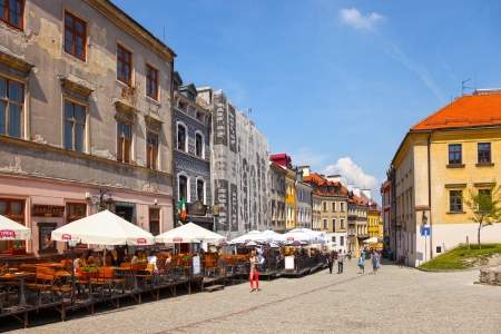 View of the old houses in Lublin, Poland. Photo taken on: May 11th, 2013