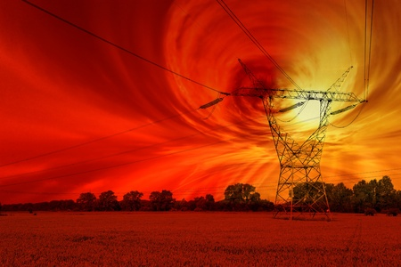 magnetic field: Magnetic storm and the disruption of energy networks - futuristic vision