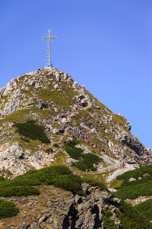 Giewont - Famous mountain in Polish Tatras with a cross on top
