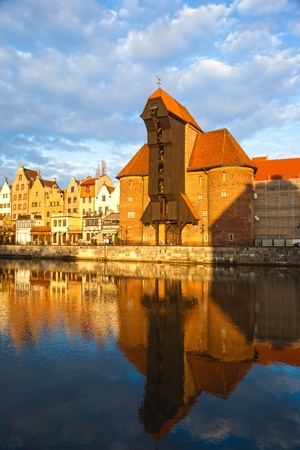 surviving: Crane in Gdansk, built in the 15th century is the oldest surviving port crane in Europe