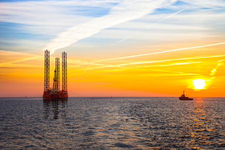oil rig: Oil rig at sunset