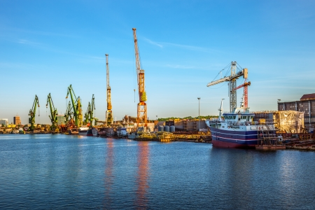Construction site in the Shipyard of Gdansk Poland Stock Photo - 24069430