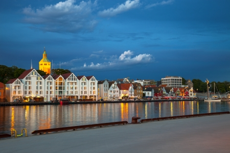 Quay in the city of Stavanger, Norway   photo