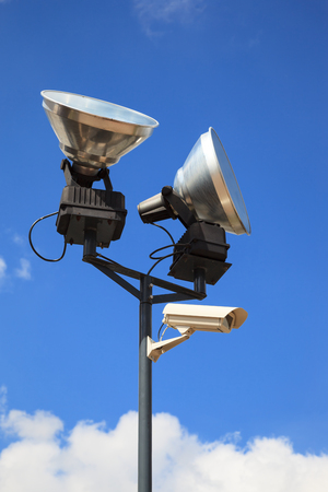 close circuit camera: Equipment for safety oversight - camera and lamp