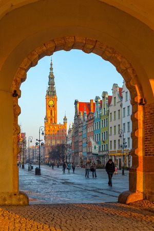 Green Gate view for City Hall of Gdansk, Poland