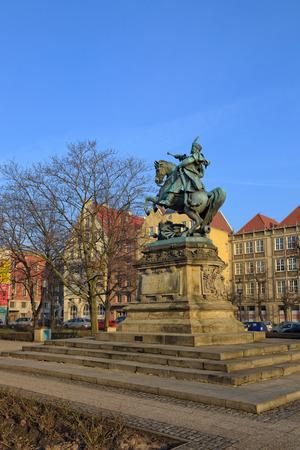 sobieski: Monument of king Jan III Sobieski in Gdansk, Poland  Editorial
