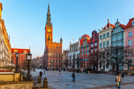 gdansk: Old Town of Gdansk with City Hall, Poland   Editorial