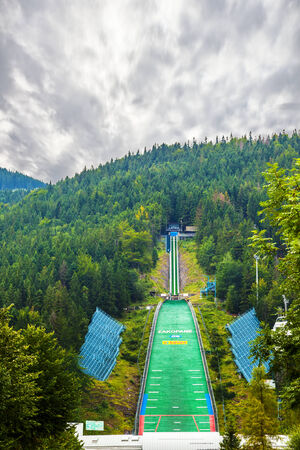 zakopane: The Great Krokiew is a ski jumping venue in Zakopane, Poland   Editorial