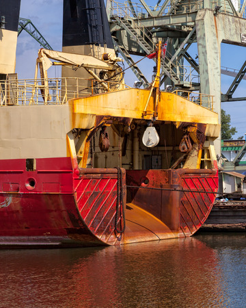 The stern of a fishing trawler on the port Stock Photo - 26275545