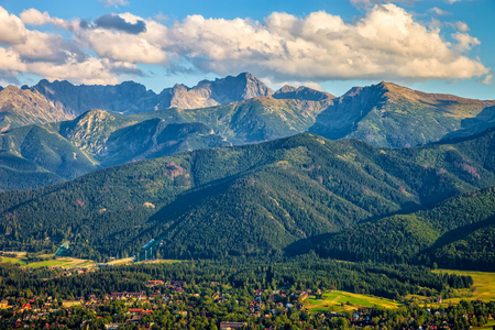 View from Gubalowka on the most popular mountains in Poland   photo