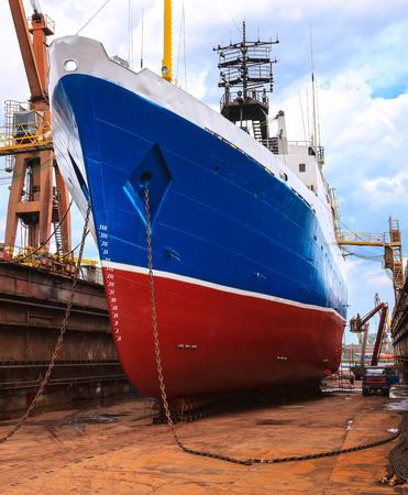 Big ship to dock at the shipyard