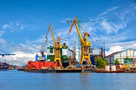 dockyard: Industrial view of the Gdansk Shipyard, Poland