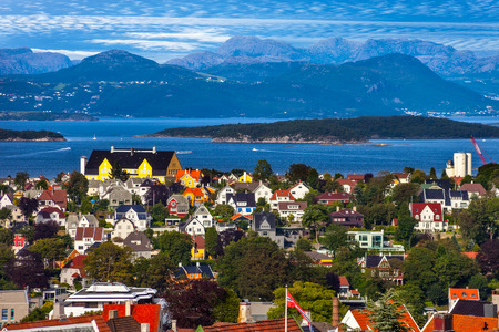 View of the cityscape of Stavanger in Norway Stok Fotoğraf - 28881720