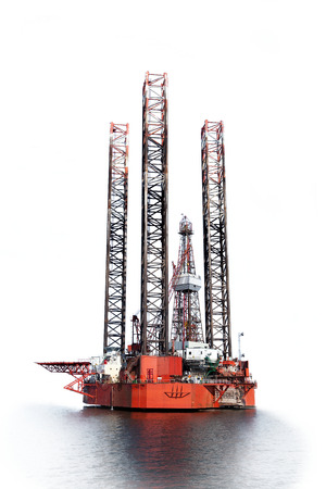 Photo of a Oil Rig isolated on white background  photo