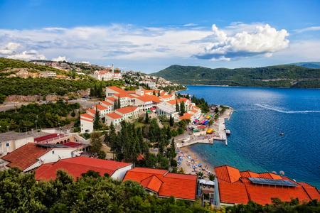 De toeristische badplaats Neum, Bosnië-Herzegovina Stockfoto
