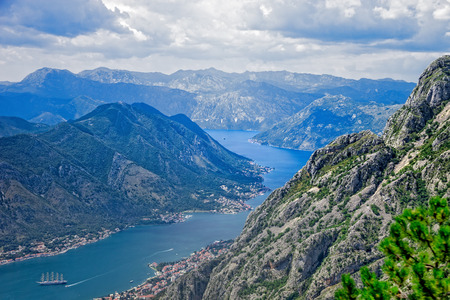 Top view of the Bay of Kotor panorama, Montenegro. photo