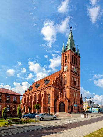 congregation: Resurrectionist congregation church in Kocierzyna, Poland. Editorial