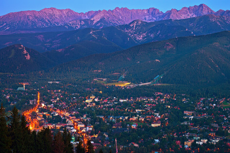 zakopane: Zakopane view as seen from Gubalowka, Poland