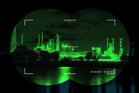 nightvision: Chemical industry the threat of terrorism - Concept Photo.