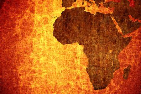 그런 지 빈티지 아프리카지도 배경 긁힌.