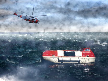 lifeboat: The search for the lost lifeboat - sea rescue mission.