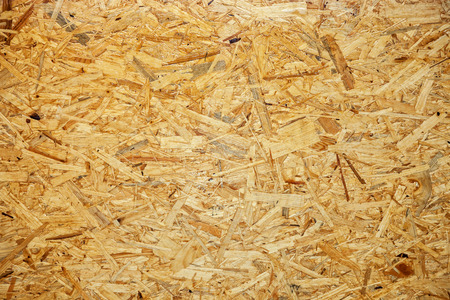 Small wooden pieces various thin plywood as background. photo