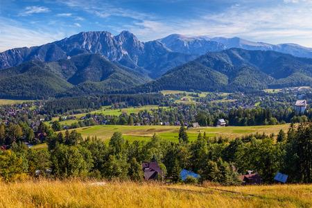 View from Gubalowka on the Tatra Mountains Poland. photo
