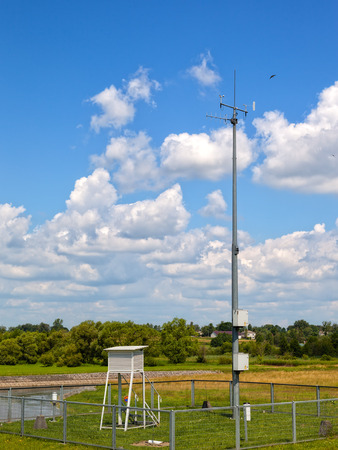meteorological: Meteorological station on the background river of Wieprz.